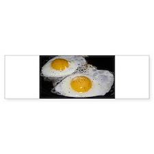 Fried Eggs eggs over easy Car Sticker