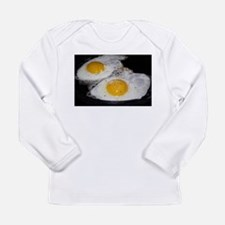 Fried Eggs eggs over easy Long Sleeve Infant T-Shi