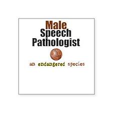 Male SLP-- Endangered Square Sticker