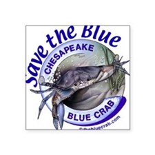 """Save the Blue"" Square Sticker"