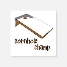 cornhole corn hole Square Sticker