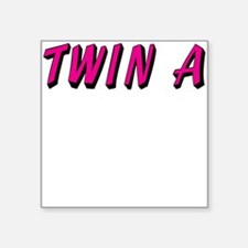 Baby Pink A Twin Square Sticker