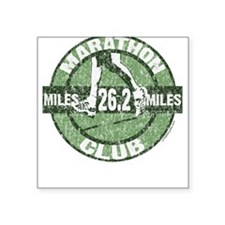 Marathon Club Square Sticker