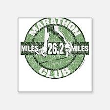 Marathon Club Square Sticker