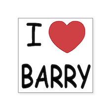 I heart barry Square Sticker