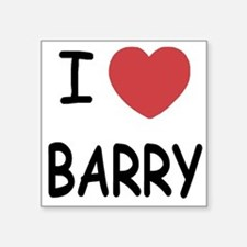 I heart barry Square Sticker