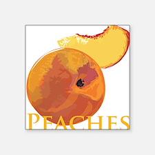 Velvety Peaches Square Sticker