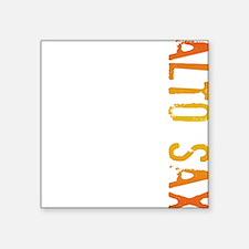 Alto Sax Stamp Square Sticker