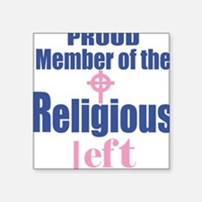 RELIGIOUS LEFT Square Stickeree, pink celtic cross
