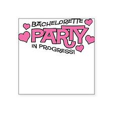 Bachelorette Party Hearts Square Sticker