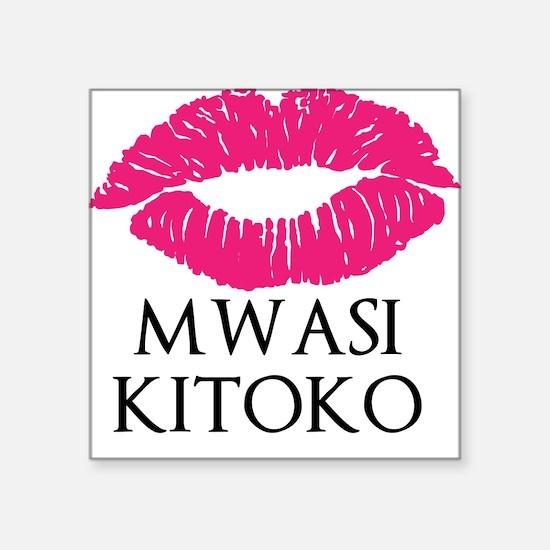 Mwasi Kitoko Square Sticker