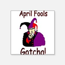 April Fools Square Sticker