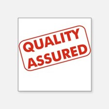 Quality Assured Square Sticker