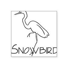 Snowbird Square Sticker