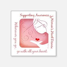 Women's Heart Disease Square Sticker