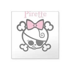 Pirette 1bw Square Sticker