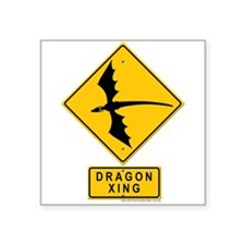 Dragon XING Square Sticker