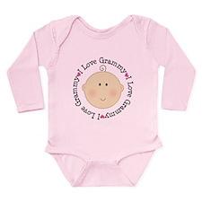 I Love Grammy Long Sleeve Infant Bodysuit