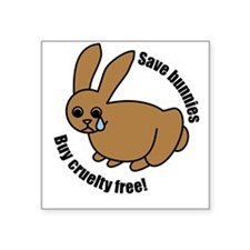 Save Bunnies Cruelty-Free Square Sticker