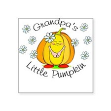 Grandpa's Little Pumpkin Square Sticker