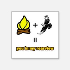 Fire Plus Hawk Square Sticker