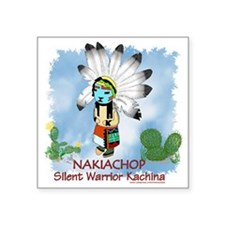 Kachina Nakiachop Square Sticker