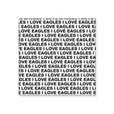 I Love Eagles Square Sticker