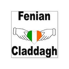 Fenian Claddagh Square Sticker