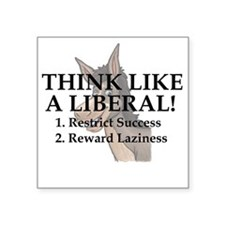Think Liberal Square Sticker