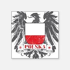 Polska Shield Square Sticker