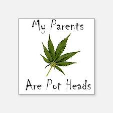 Legalize Marijuana Cannabis Flag Square Sticker