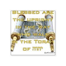Psalms 119:1 Square Sticker