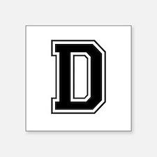 Varsity Letter D Square Sticker