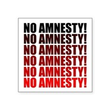 No Amnesty for Illegals Square Sticker