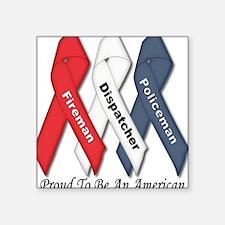 Proud American Square Sticker