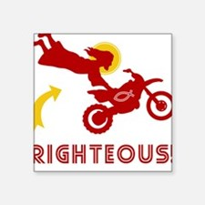 RIGHTEOUS! Jesus Dirtbike Square Sticker