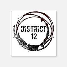 District 12 Hunger Games Gear Square Sticker