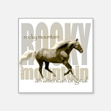 New Mountain Horse Design Square Sticker
