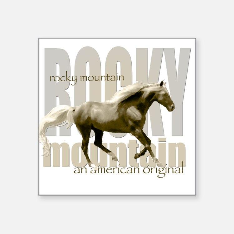 New Mountain Horse Design Square Sticker