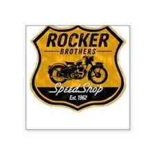 Vintage Cafe Racer Square Sticker