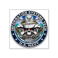 USN Information Systems Techn Square Sticker