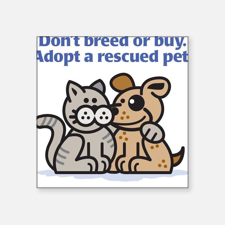 Don't Breed Square Sticker
