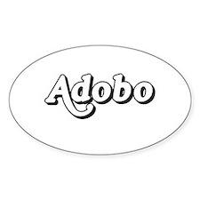 Adobo - Filipino tshirts Oval Decal
