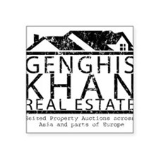 Genghis Kahn Real Estate Square Sticker