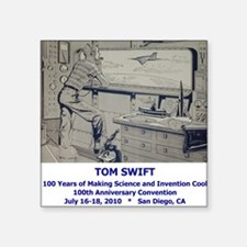 Tom Swift Junior Endpaper Square Sticker