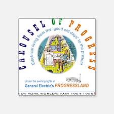 """Carousel of Progress"" Square Sticker"