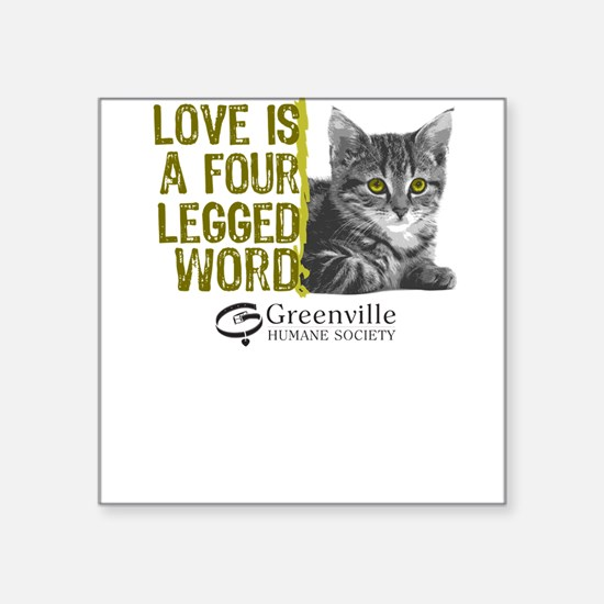 Love is a 4 Legged Word-Square Sticker