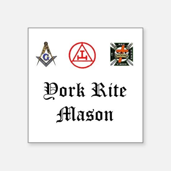 York Rite Mason Square Sticker