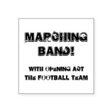 Marching Band Square Sticker