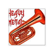 Heavy Metal Tuba Square Sticker